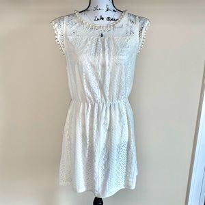 Buy 2 Get 1 FREE Simply Couture Ivory & Lace Dress